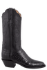 Lucchese Women's Black Ultra Caiman Crocodile Boots - Side