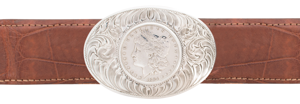 "Comstock Heritage Morgan Dollar 1 1/2"" Trophy Buckle"