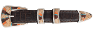 "B.G. Mudd Jasper and Red Tiger Eye 1"" Buckle Set - Hero"