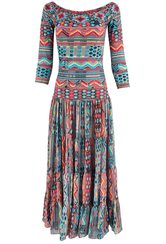 Vintage Collection Santa Fe Nights Long Dress - Front
