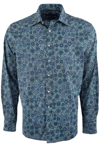 David Smith Australia Teal Burleigh Gyroscope Shirt - Front