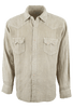 Ryan Michael Teak Navajo Flocked Linen Shirt - Front