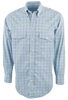 Gitman Bros. Green and Blue Multi-Check Shirt - Front