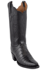 Lucchese Women's Black Ultra Caiman Crocodile Boots with Snip Toe - Hero