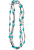 WTW Designs Knotty Turquoise and Silver Wrap - Black - Coil