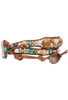 WTW Designs Jasper and Turquoise Wrap Watch - Side