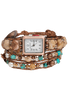 WTW Designs Jasper and Turquoise Wrap Watch - Front