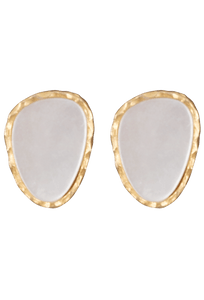 Christina Greene Mother of Pearl Stud Earrings
