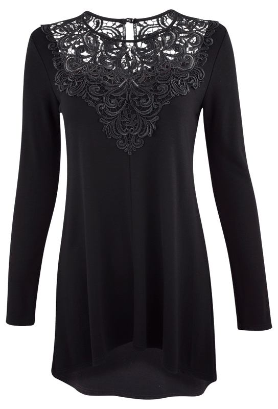 Arianne Elsa Lace Tunic - Front