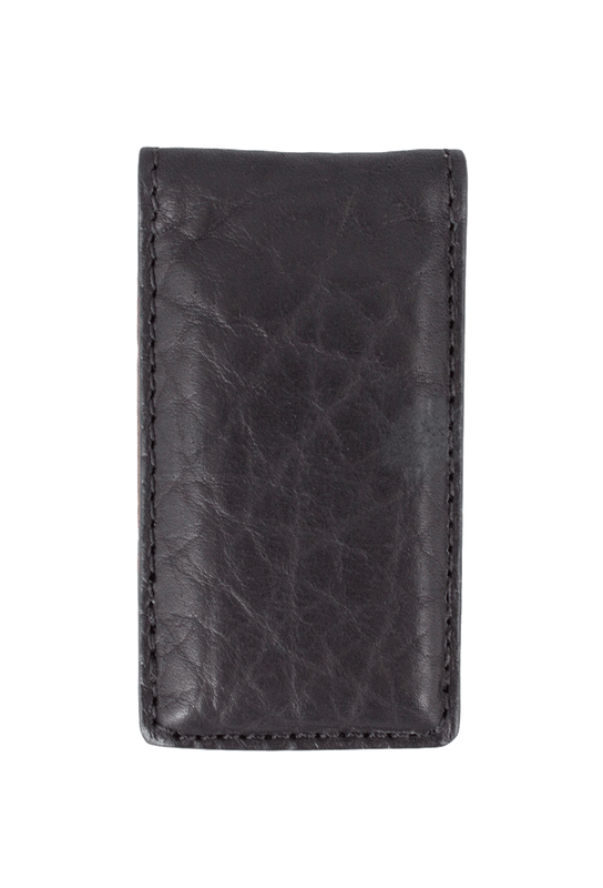 Bison Magnetic Money Clip - Black - Front