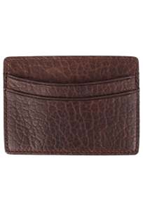 Bison Sport Clip Card Case - Brown - Front