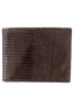 Lizard Slim Fold Wallet - Brown - Front