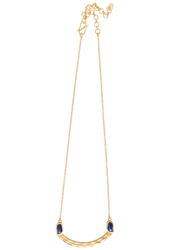Christina Greene Lapis Curved Bar Necklace