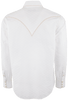 Ryan Michael Clip Jacquard Snap Shirt - White - Back