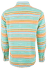 Ryan Michael Serape Stripe Snap Shirt - Seafoam - Back