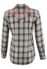 Ryan Michael Ombre Dobby Plaid Shirt - Sage - Back