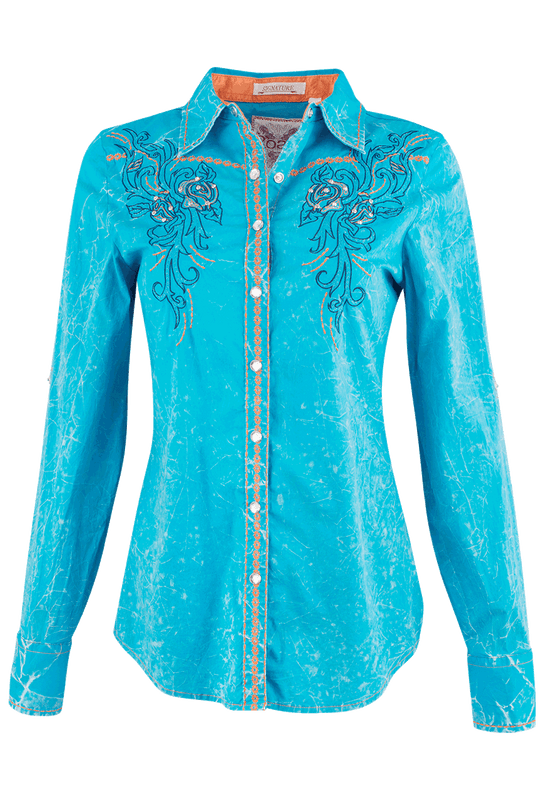 Roar Tribal Weave Western Shirt - Front