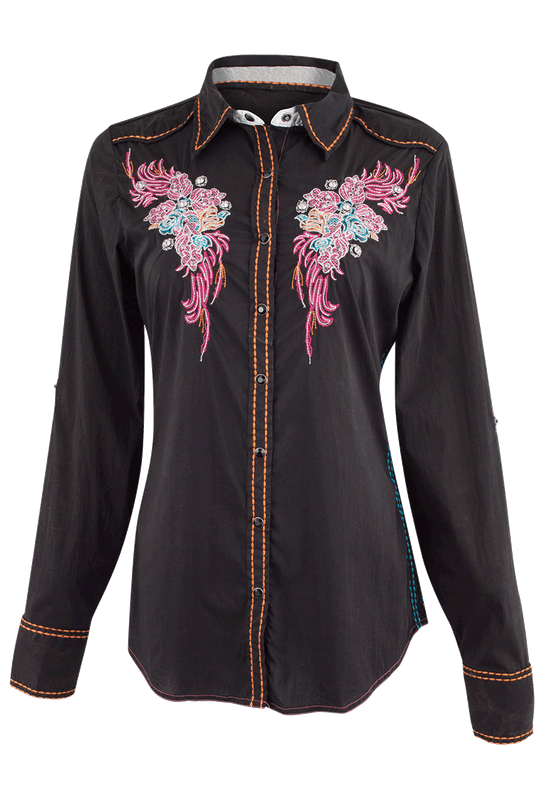 Roar Rose Lane Western Shirt - Front