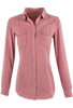 Ryan Michael Silk Whipstitch Western Shirt - Rose - Front