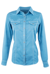 Barn Fly Bucking Horse Jaquard Snap Shirt - Front