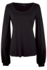 Union of Angels - Black Scoop Neck Knit Top - Front - Alternate