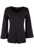 Union of Angels - Black Scoop Neck Knit Top - Front