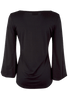 Union of Angels - Black Scoop Neck Knit Top - Back