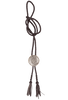 Silver King Roped Low Dome Bolo Tie - Front