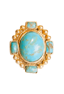 Christina Greene Navajo Statement Ring - Front