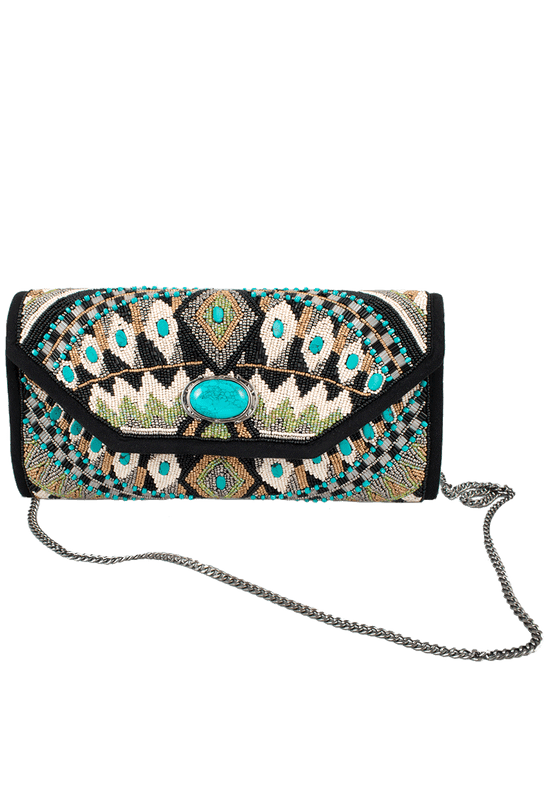 Mary Frances Tahoe Clutch Handbag - Front with strap