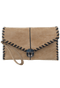 Sydney Love Laced Clutch - Sand - Front