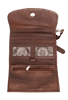 American West Mystic Shadow Crossbody Bag - Distressed Charcoal Brown/Chestnut Brown - Open