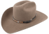 Cross Concho Studded Leather Hat Band - Tan - Hero