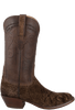 Lucchese Men's Chocolate Hippo Boots - Side