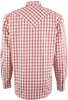 Stetson Orange Spectral Check Snap Shirt - Back