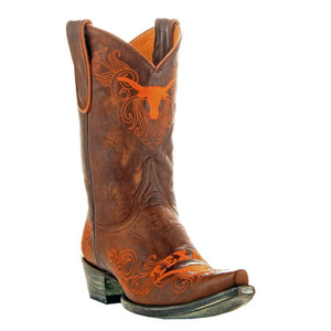 Gameday Ladies UT Austin Brass Shortie Boots