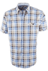 James Campbell Short Sleeve Brown Chimala Plaid Shirt - Front