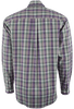 Cinch - Green/Purple Plaid Plain Weave Shirt - Gray - Back