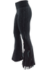 Pat Dahnke Distressed Flared Knit Pants - Black - Side
