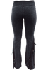 Pat Dahnke Distressed Flared Knit Pants - Black - Back