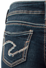 Silver Jeans Suki Mid-Rise Baby Bootcut Jeans - Pocket