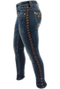 Grace in L.A. Junior Side Trim Straight Leg Jeans - Side