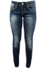 Grace in L.A. Junior Side Trim Straight Leg Jeans - Front