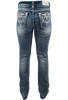 Grace in L.A. Easy Fit Moroccan Pocket Bootcut Jeans - Back