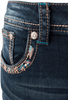 Grace in L.A. Easy Fit Diamond Flap Pocket Bootcut Jeans - Front Pocket