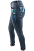 Grace in L.A. Junior Embroidered Flower Straight Leg Jeans - Side Left