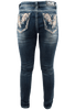 Grace in L.A. Easy Fit Feather Pocket Skinny Jeans - Back