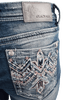 Grace in L.A. Easy Fit Thunderbird Bootcut Jeans - Back Pocket