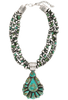 Turquoise Moon Pilot Mountain Turquoise Necklace and Earring Set - Necklace