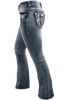 Grace in L.A. Junior Flower Pocket Bootcut Jeans - Side